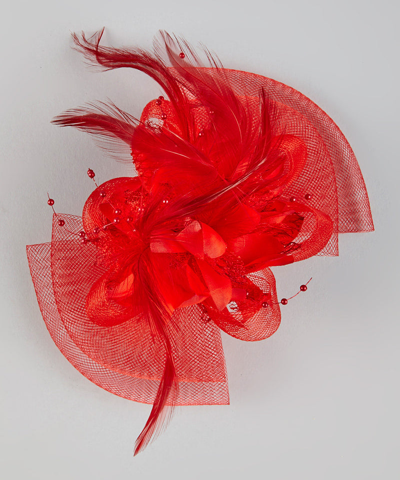 Colors Feather Net Flower Bow