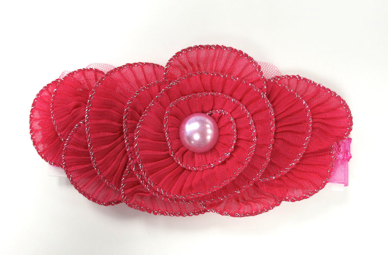 Hot Pink Pearl Elastic Headband