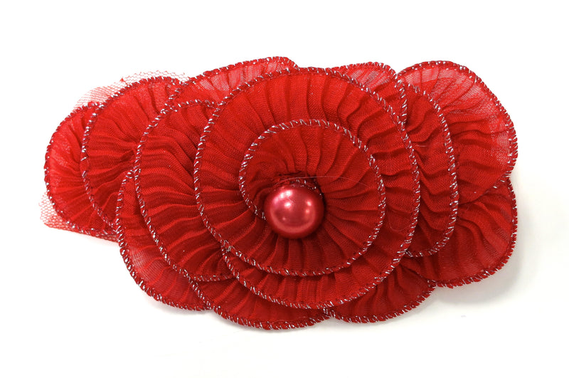 Red Pearl Elastic Headband