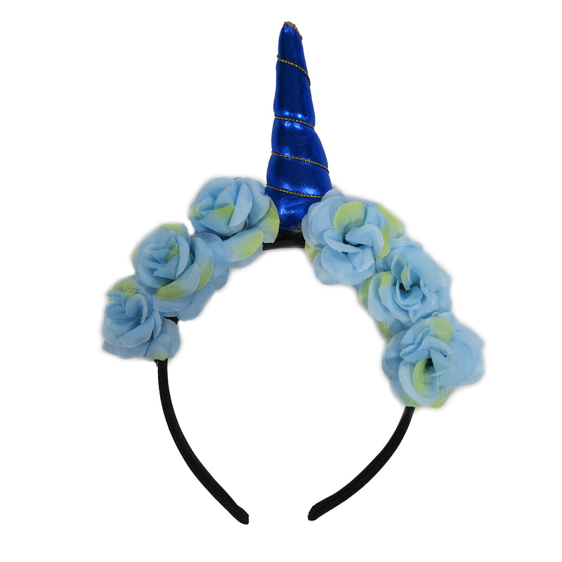 Blue Unicorn Head Band