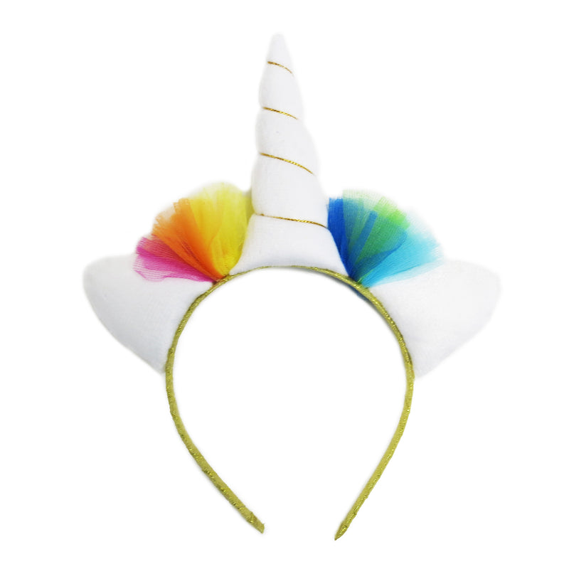 White Rainbow Unicorn Head Band
