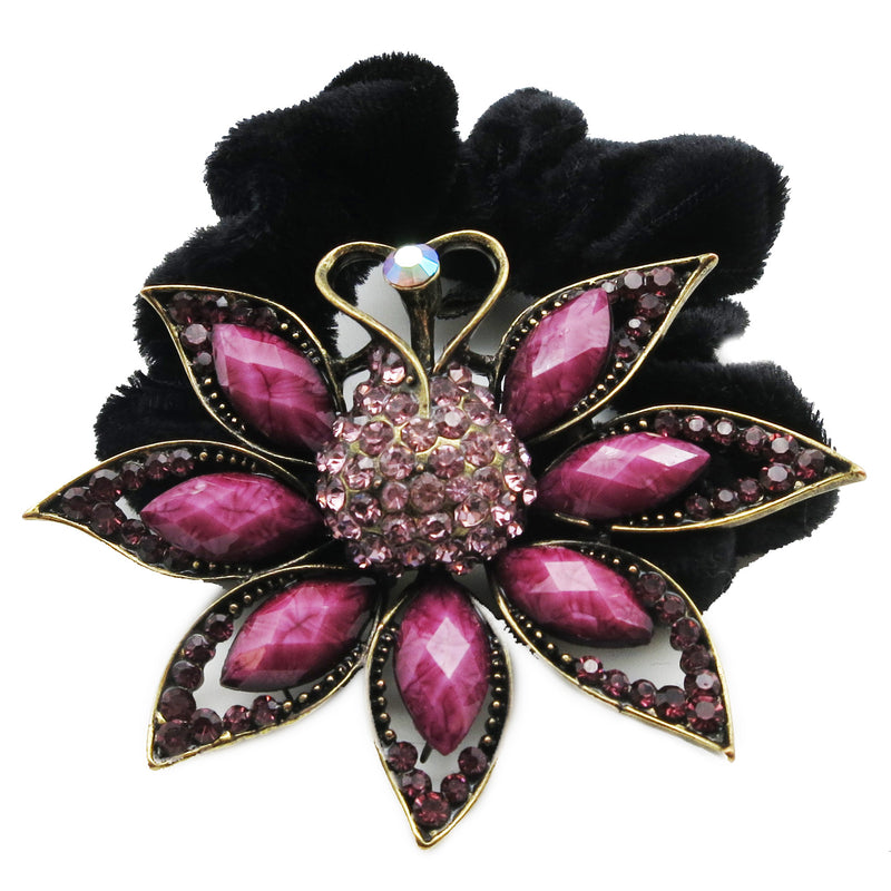 Colors Rhinestone Peacock Donut Hairband