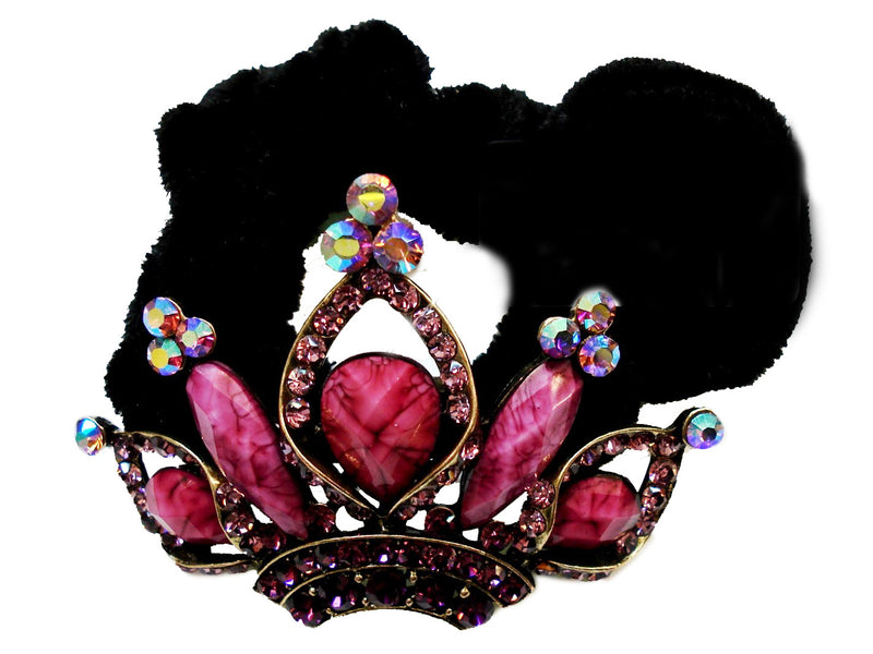 Colors Rhinestone Crown Donut Hairband