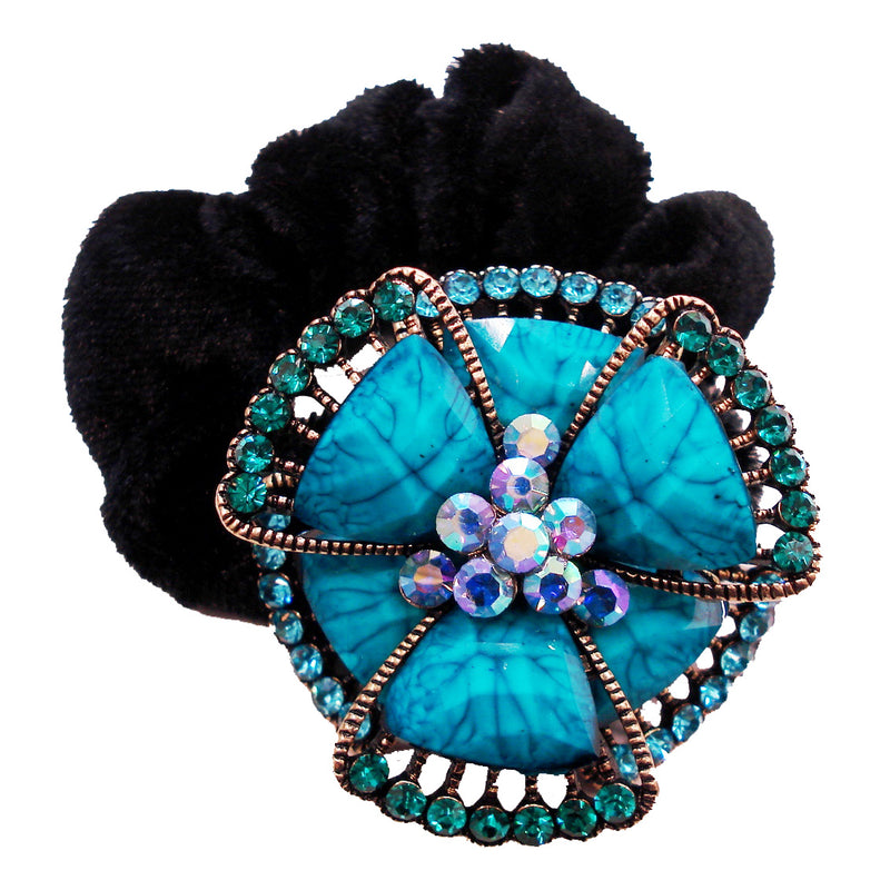 Colors Rhinestone Flower3 Donut Hairband