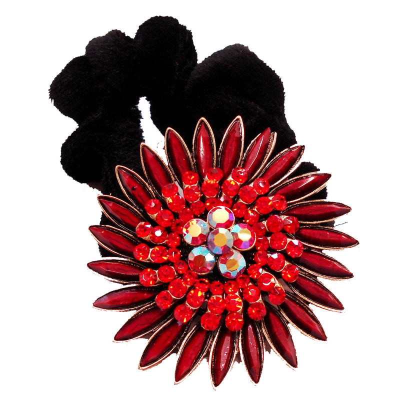 Colors Rhinestone Sunflower Donut Hairband