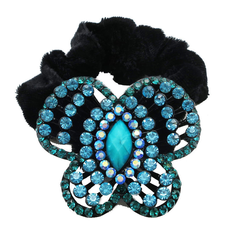 Colors Rhinestone Butterfly Donut Hairband