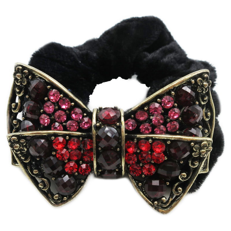 Colors Rhinestone Bow Donut Hairband