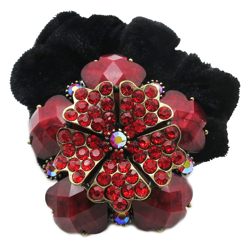 Colors Rhinestone Lily Donut Hairband