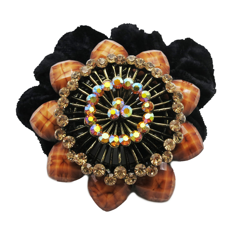 Colors Rhinestone Marigolds Donut Hairband