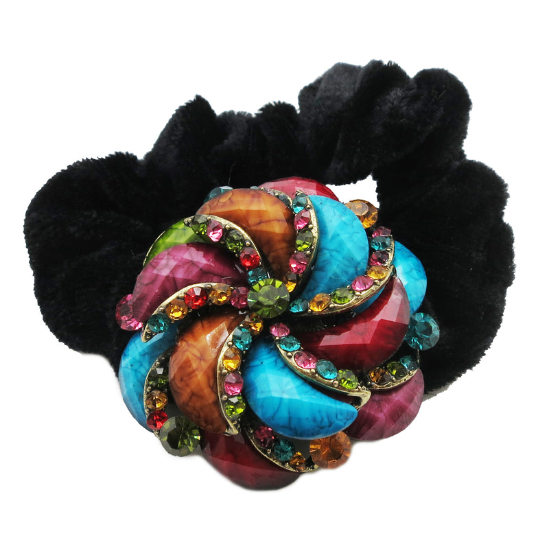 Colors Rhinestone Twist6 Donut Hairband