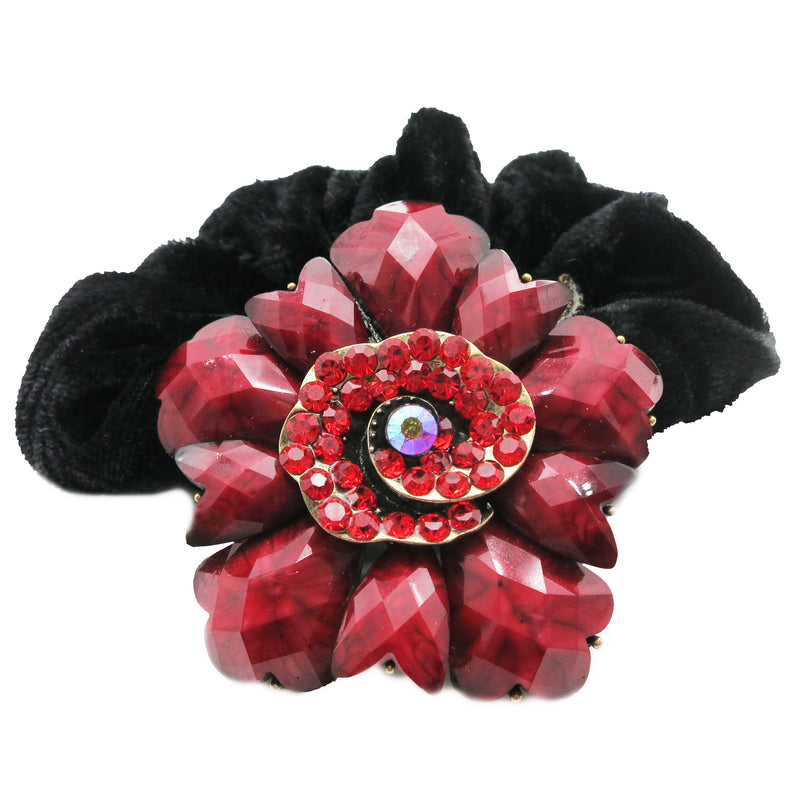 Colors Rhinestone Calla Lily Donut Hairband