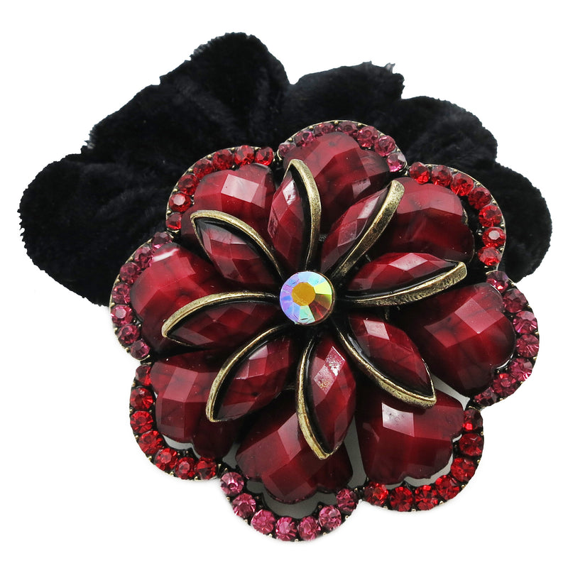 Colors Rhinestone Zinnia Donut Hairband