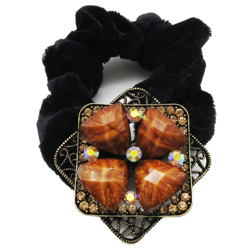 Colors Rhinestone Flower4 Donut Hairband