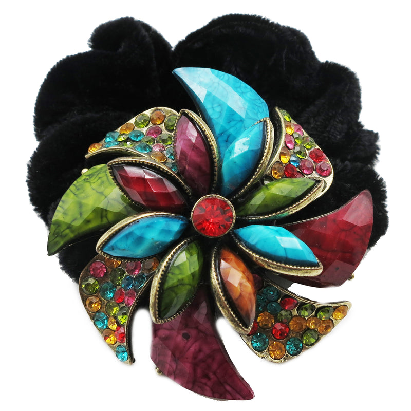 Colors Rhinestone Twist8 Donut Hairband