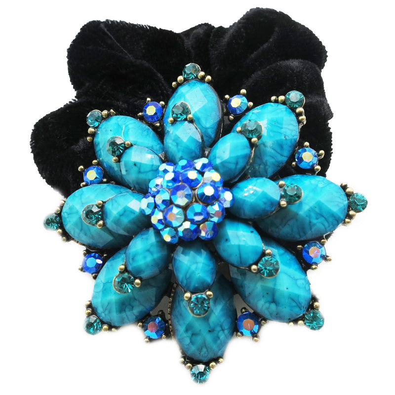 Colors Rhinestone Marigold2 Donut Hairband