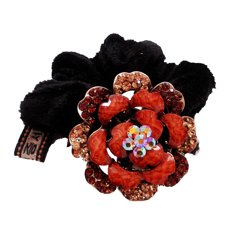 Colors Rhinestone Rose5 Donut Hairband