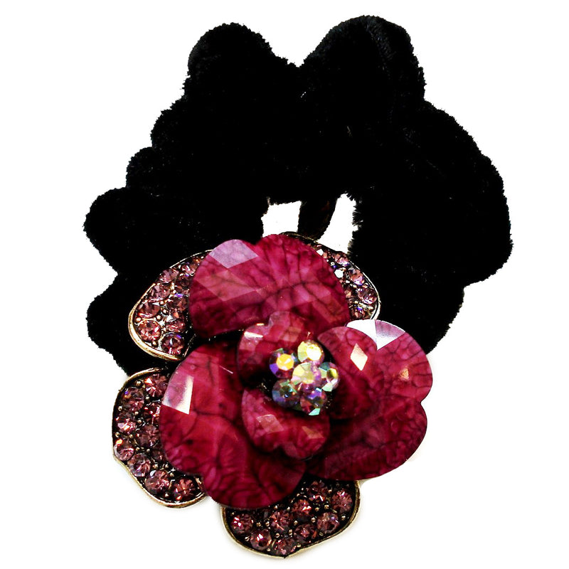 Colors Rhinestone Rose3 Donut Hairband