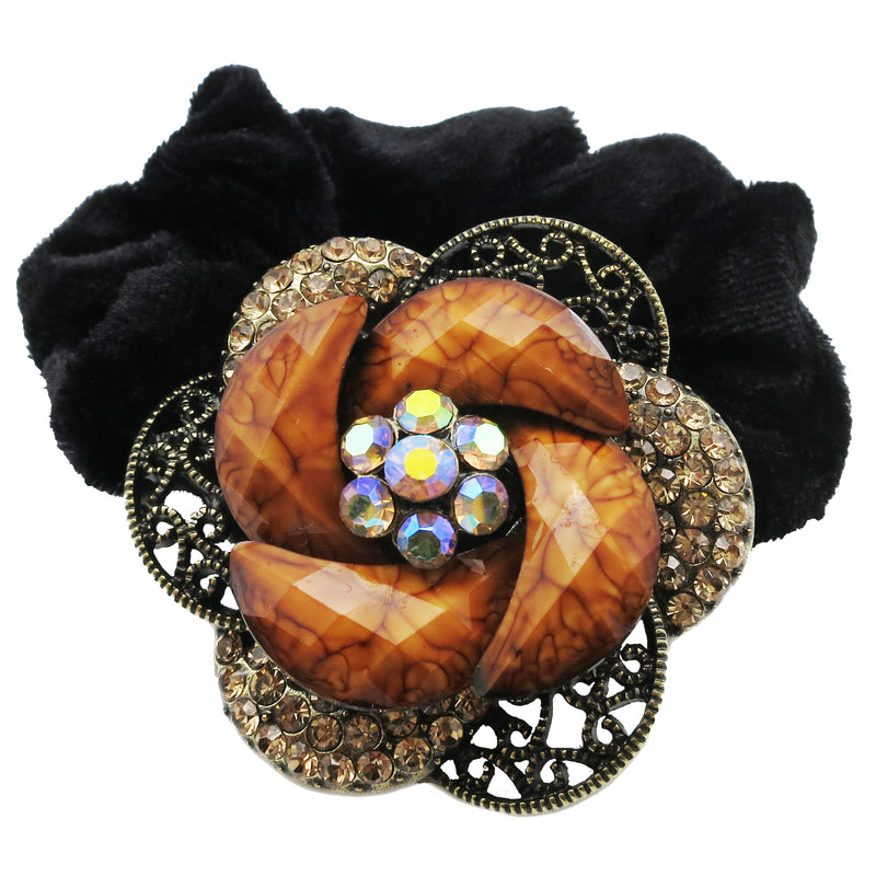 Colors Rhinestone Rose4 Donut Hairband