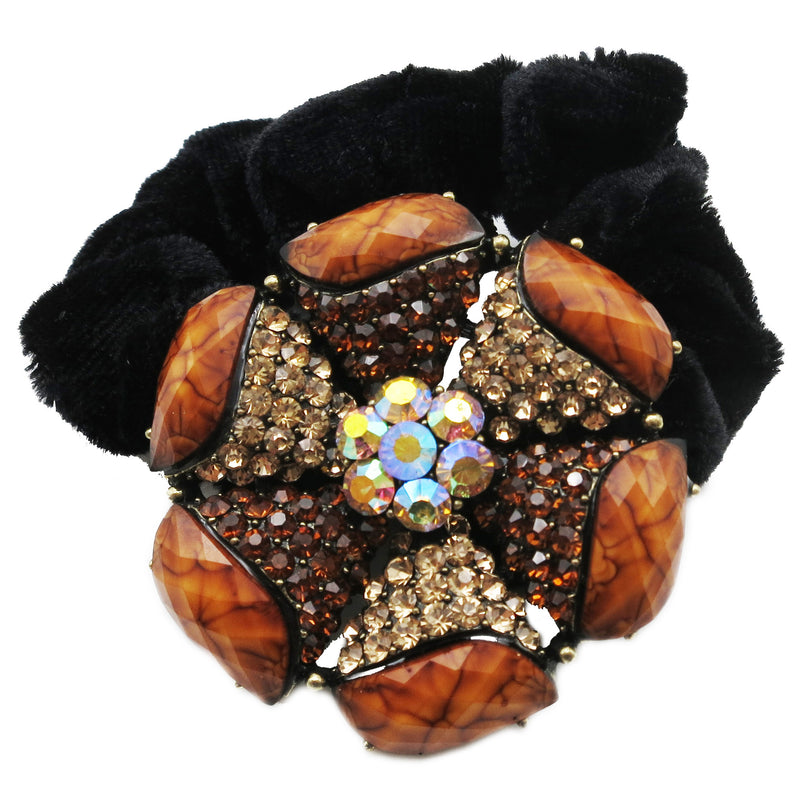 Colors Rhinestone Petal Donut Hairband