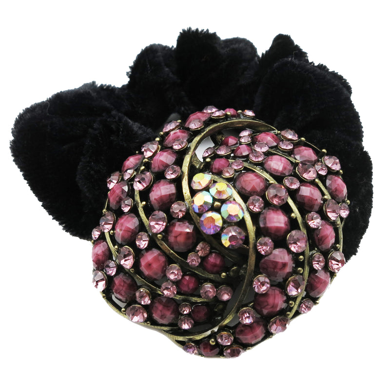 Colors Rhinestone Twist Donut Hairband