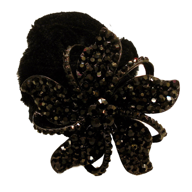 Rhinestone Black Twist5  Donut Hairband