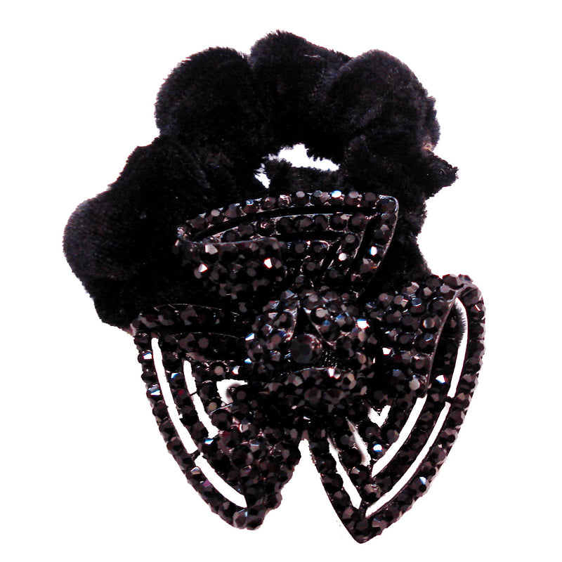 Rhinestone Black Atomic Donut Hairband