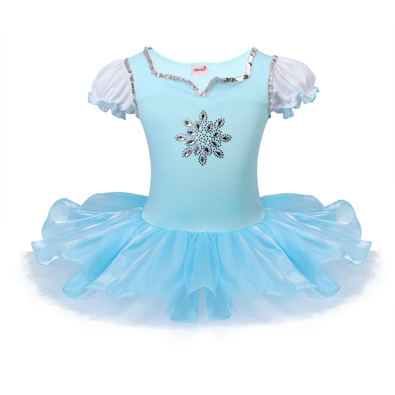 Baby Blue Snowflake Sequin Ballet Dress