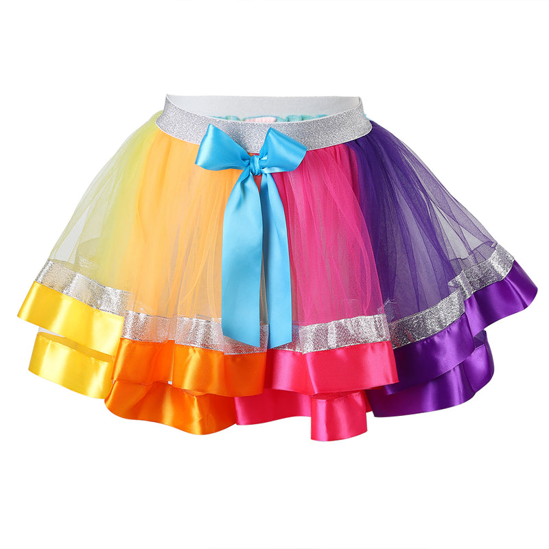 JoJo Siwa Colors Silver Trim Tutu Skirt