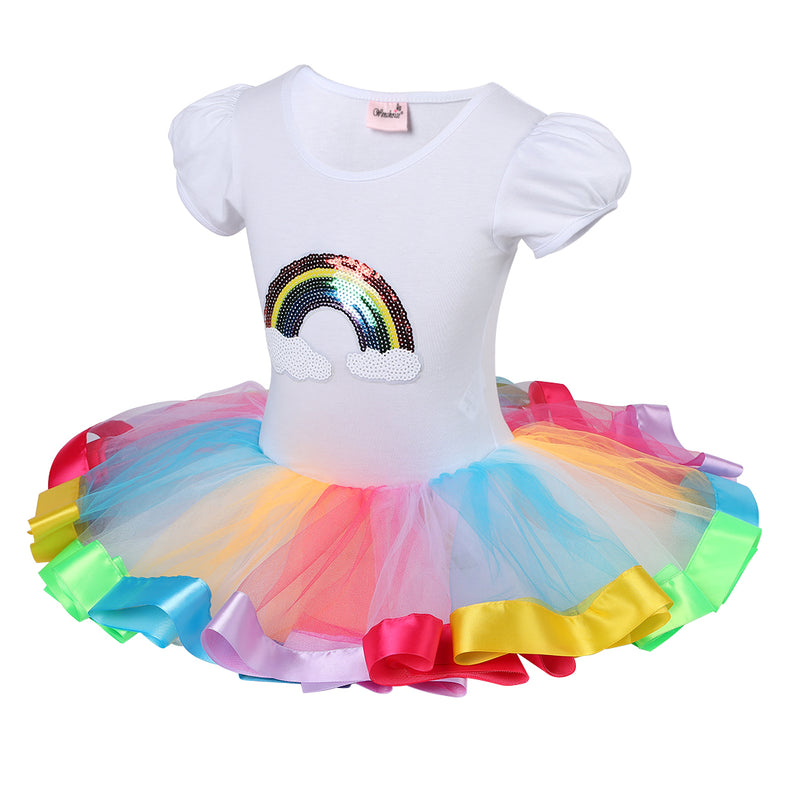 Unicorn Rainbow Sequins Ballet Dress