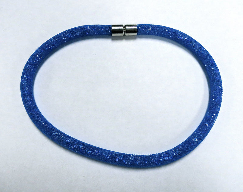 Royal Blue Stardust Double Bracelet/Choker