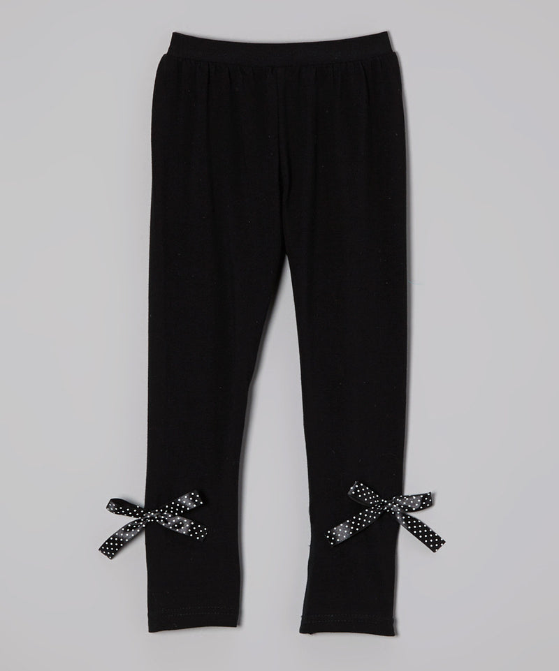 Black Legging With Bow
