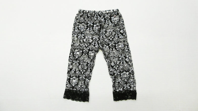 Black Flower Lace Legging