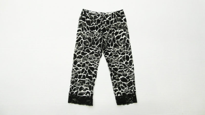 Black Giraffe Printed Lace Legging