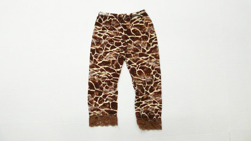 Brown Giraffe Printed Lace Legging