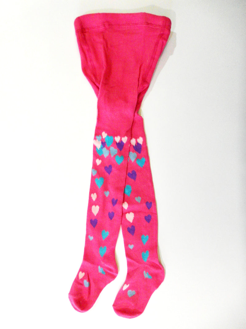 Hot Pink Hearts Tights