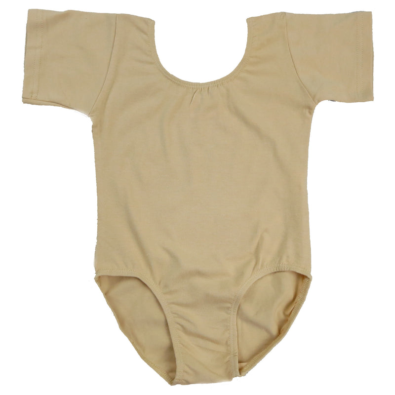 Tan Short Sleeve  Leotard