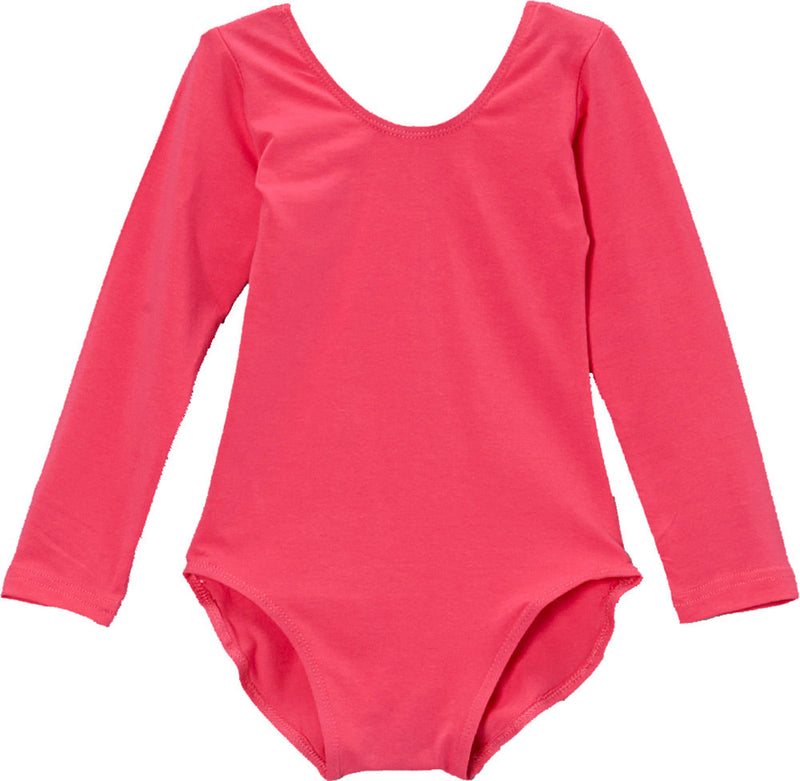 Hot Pink Long Sleeve  Leotard