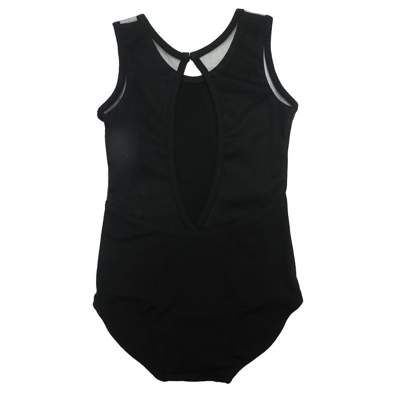Black Ring Back Tank Top Leotard
