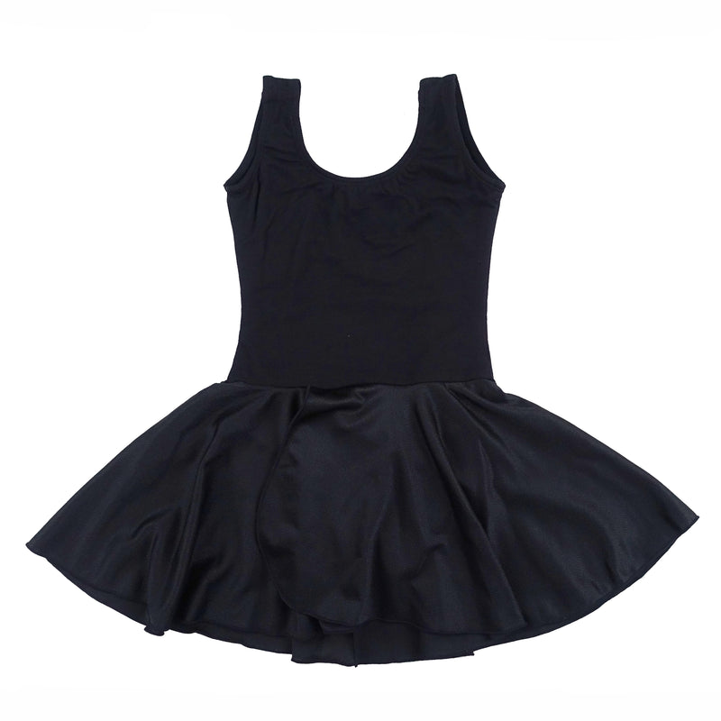 Black Skirted 2 Layer Tank Top Leotard