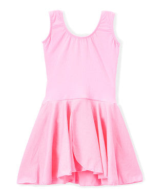 Pink Skirted 2 Layer Tank Top Leotard