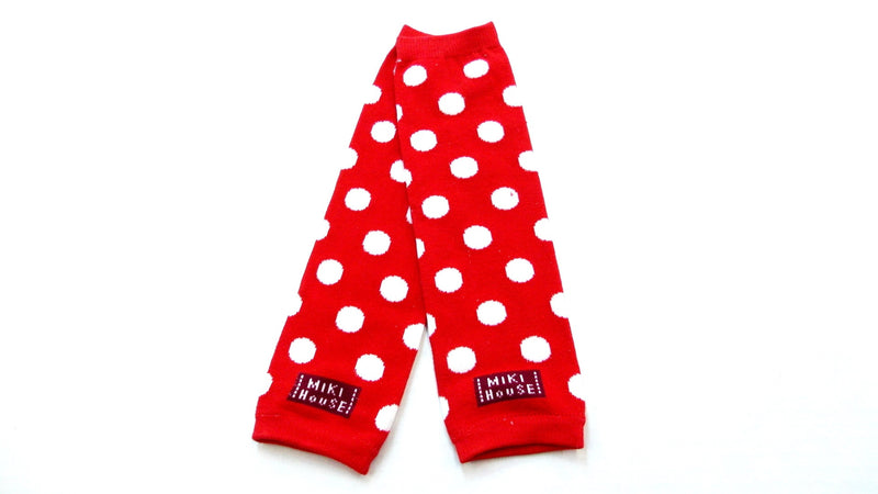 Red/White Dot Cotton Leg Warmer