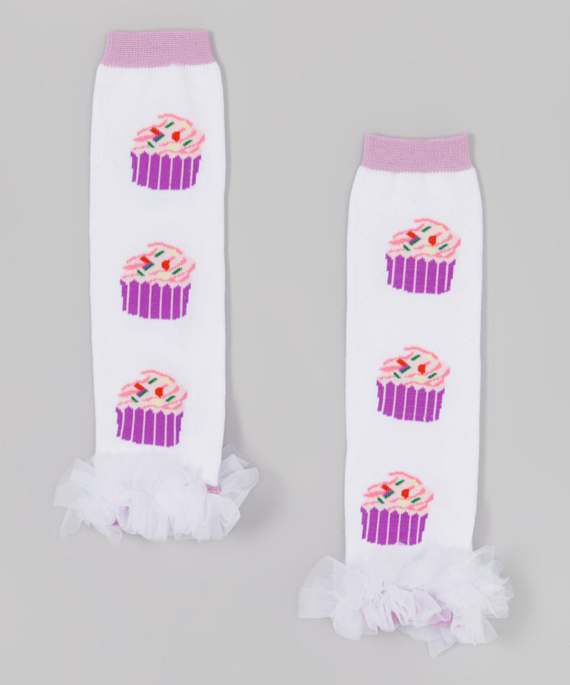 Cupcake Leg Warmer With Chiffon Ruffle