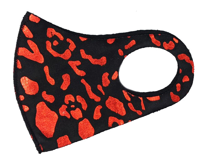 Red Leopard Washable Mask (Kid and Adult)