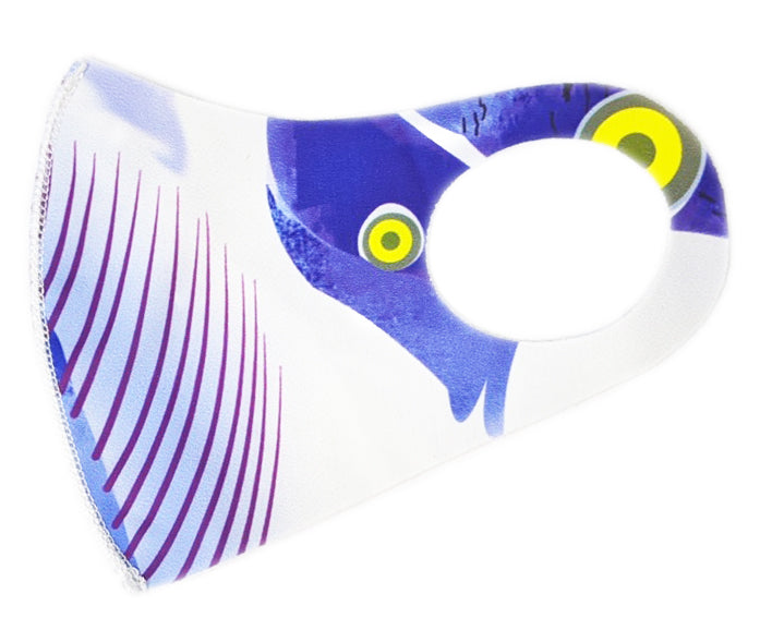 Purple white Kid's Washable Mask