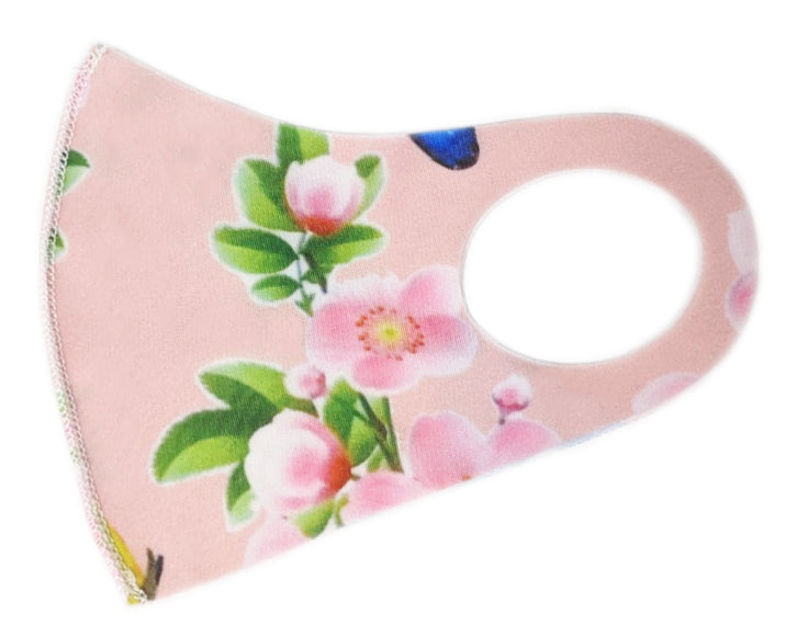 Pink Flower Kid's Washable Mask
