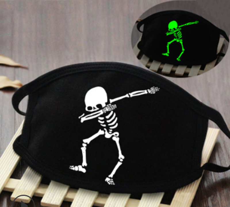 Glow In Dark Skeleton B Washable Cotton Mask