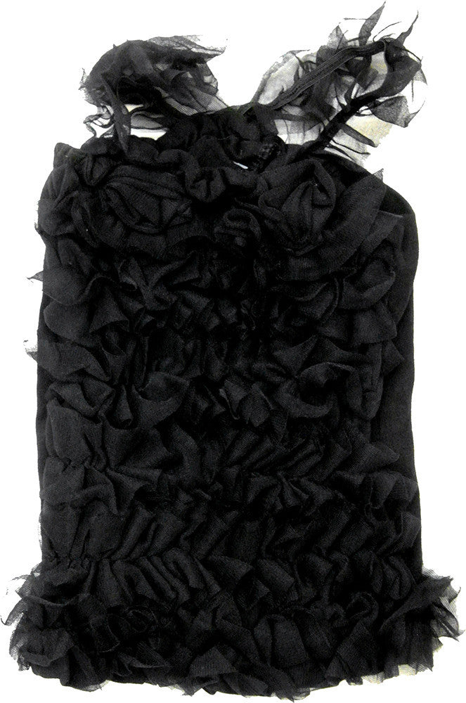 Cotton Black Ruffle Top