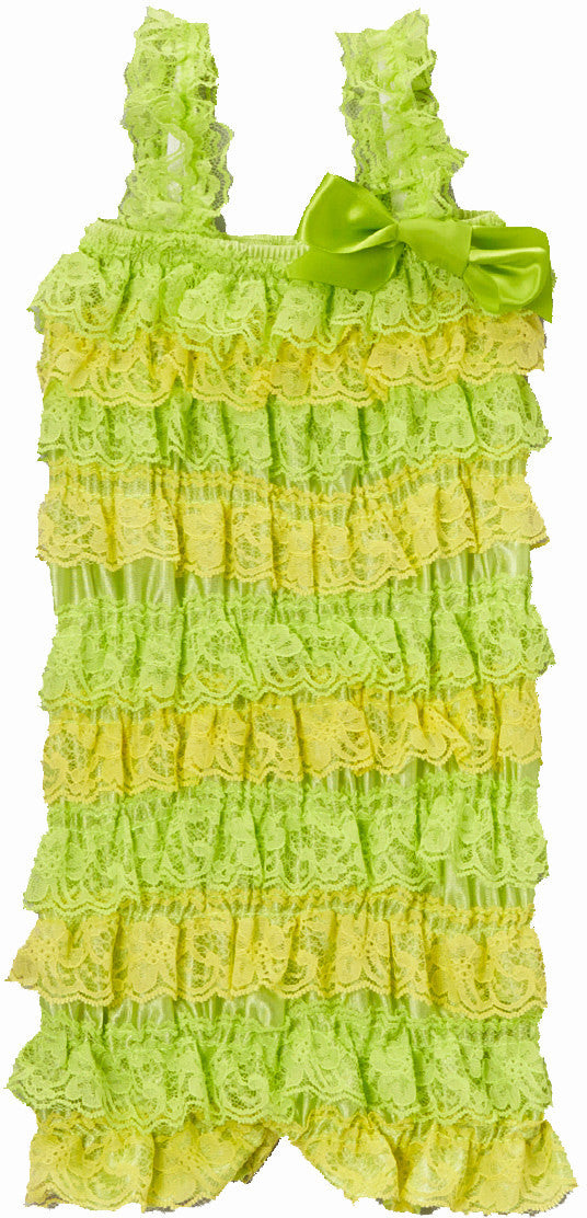 Lime/Yellow Lace Romper