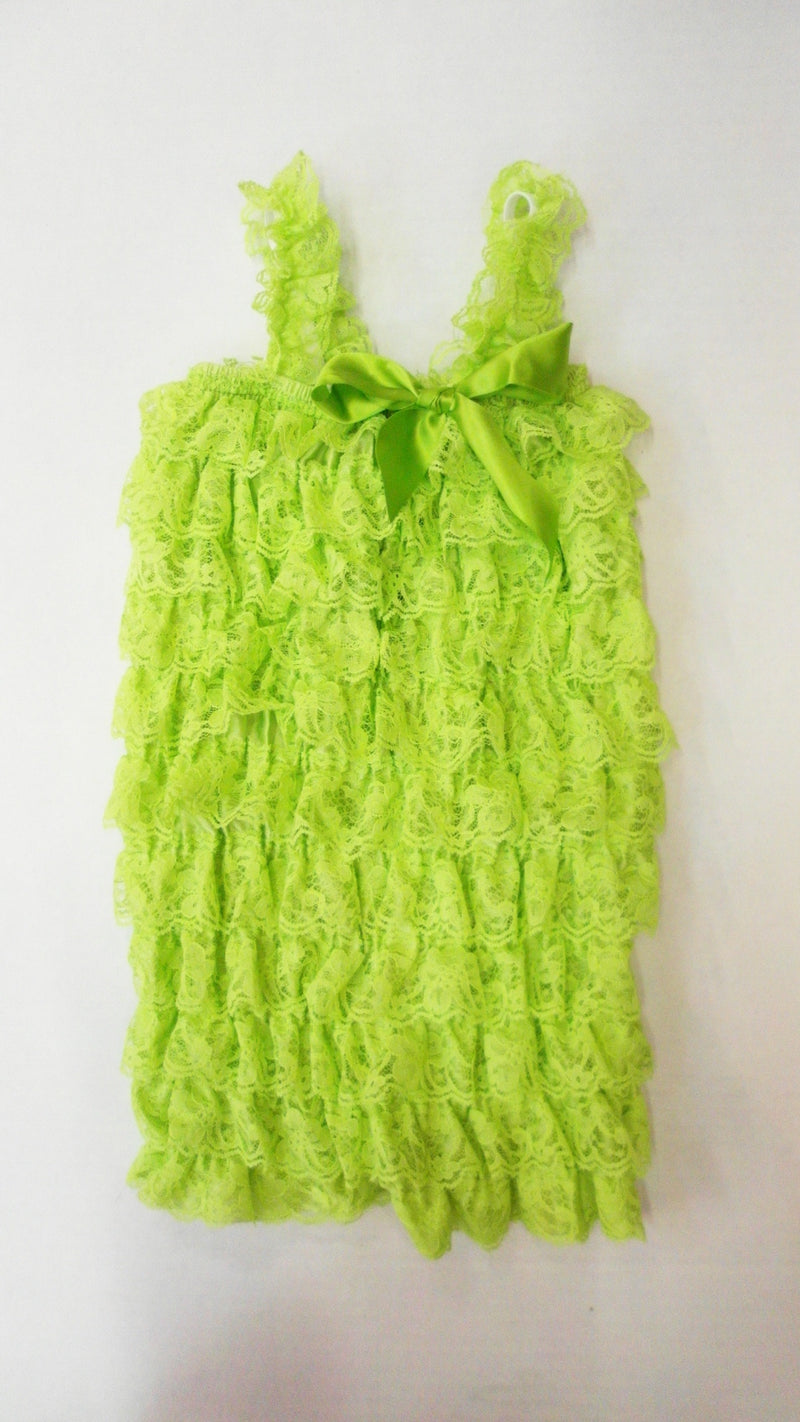 Lime Lace Romper