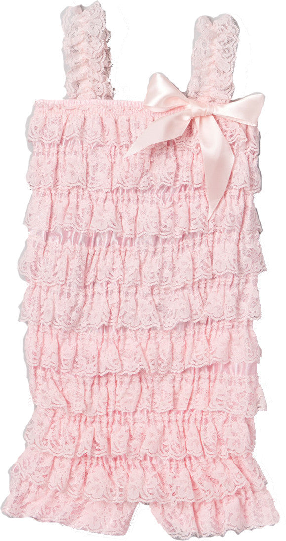 Light Pink Lace Romper